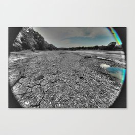 Dried up river bed Canvas Print