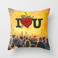 Utica Music and Arts Fest Throw Pillow