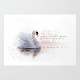 The Swan Princess Art Print