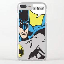 Superhero No. 30 Clear iPhone Case