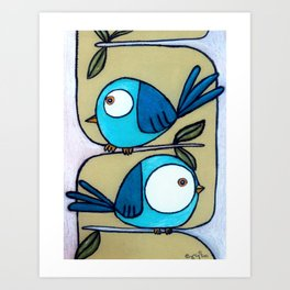 Two Way Tweet Art Print