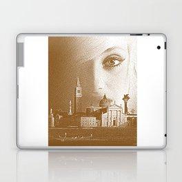 Venice woman. Sepia Engraving. Laptop & iPad Skin
