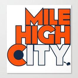 Mile High City - B Canvas Print