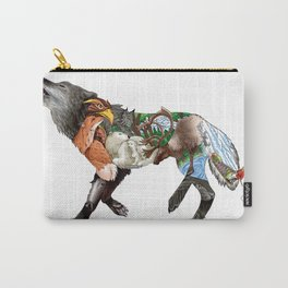 Colored Wilderness Wolf Carry-All Pouch