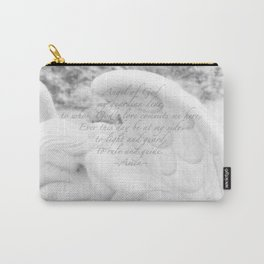 Guardian Angel Prayer | White Angel | Religious Art | Baptism | First Communion Carry-All Pouch