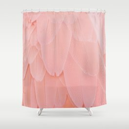 Pink Scandi Feathers Shower Curtain