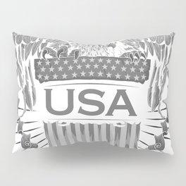 United States of America USA Flag FLYING EAGLE Tees Pillow Sham