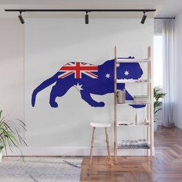 Australian Flag - Tiger Wall Mural