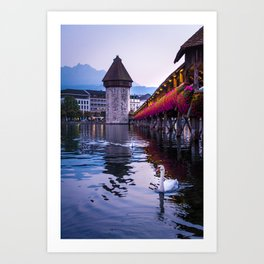 Evenings in Lucerne Art Print