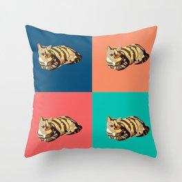 Cats pop art Throw Pillow