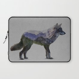 The Rocky Mountain Gray Wolf Laptop Sleeve