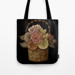 Flower Basket (color) Tote Bag