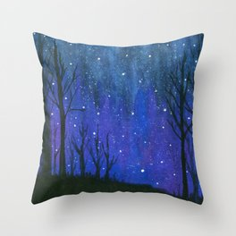 Still of the Night, Landscape Stars Sky Throw Pillow