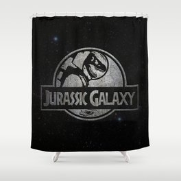 Jurassic Galaxy - Metal Shower Curtain