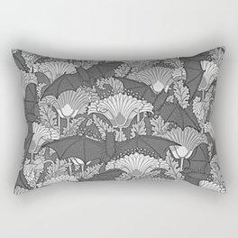 VINTAGE GREY BATS & WHITE LILIES Rectangular Pillow