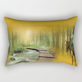 Morning ride - digital art by Giada Rossi Rectangular Pillow