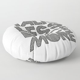 Talk less dance more Floor Pillow