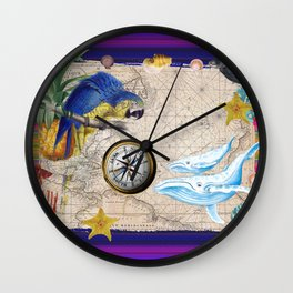 Tropical World Collage Wall Clock