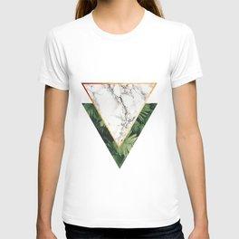 Geometric Tropical Marble T-shirt