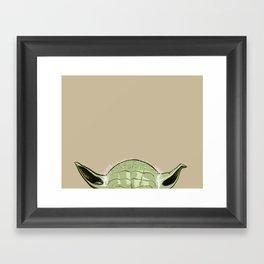 SHORTYoda [Bege] Framed Art Print