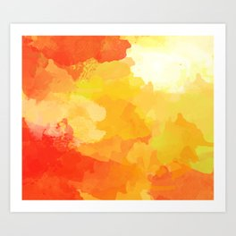 Colorful Abstract - red orange pattern Art Print