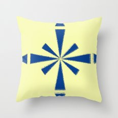 Blue Asterisk Throw Pillow