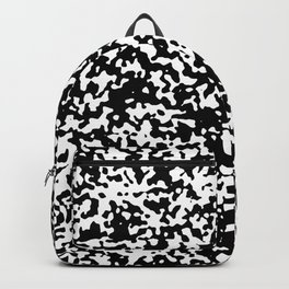 Small Spots - White and Black Backpack