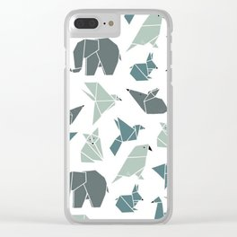 Animals pattern Clear iPhone Case