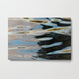Abstract Water Surface Metal Print