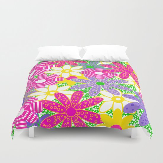 Frolicking Flowers Duvet Cover