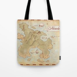 Map of Neverland Tote Bag