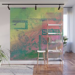 Watch The World Go By (mixed media) Wall Mural