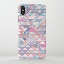 Triangle Pattern no.25 Light Pink iPhone Case
