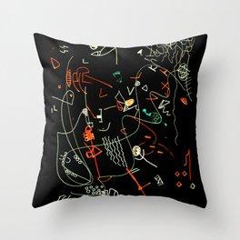 Composizione I negativ Throw Pillow