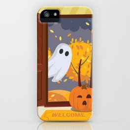Trick or Treater Halloween Illustration iPhone Case