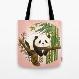 Panda under sunlight - Pink Tote Bag