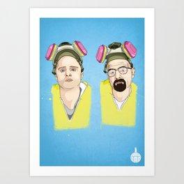Breaking Bad - Jess & Walt Art Print
