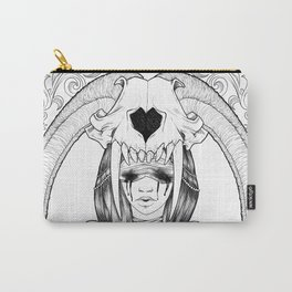 Tears, Skull and a broken Heart Carry-All Pouch