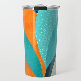 Abstract Tropical Foliage Travel Mug