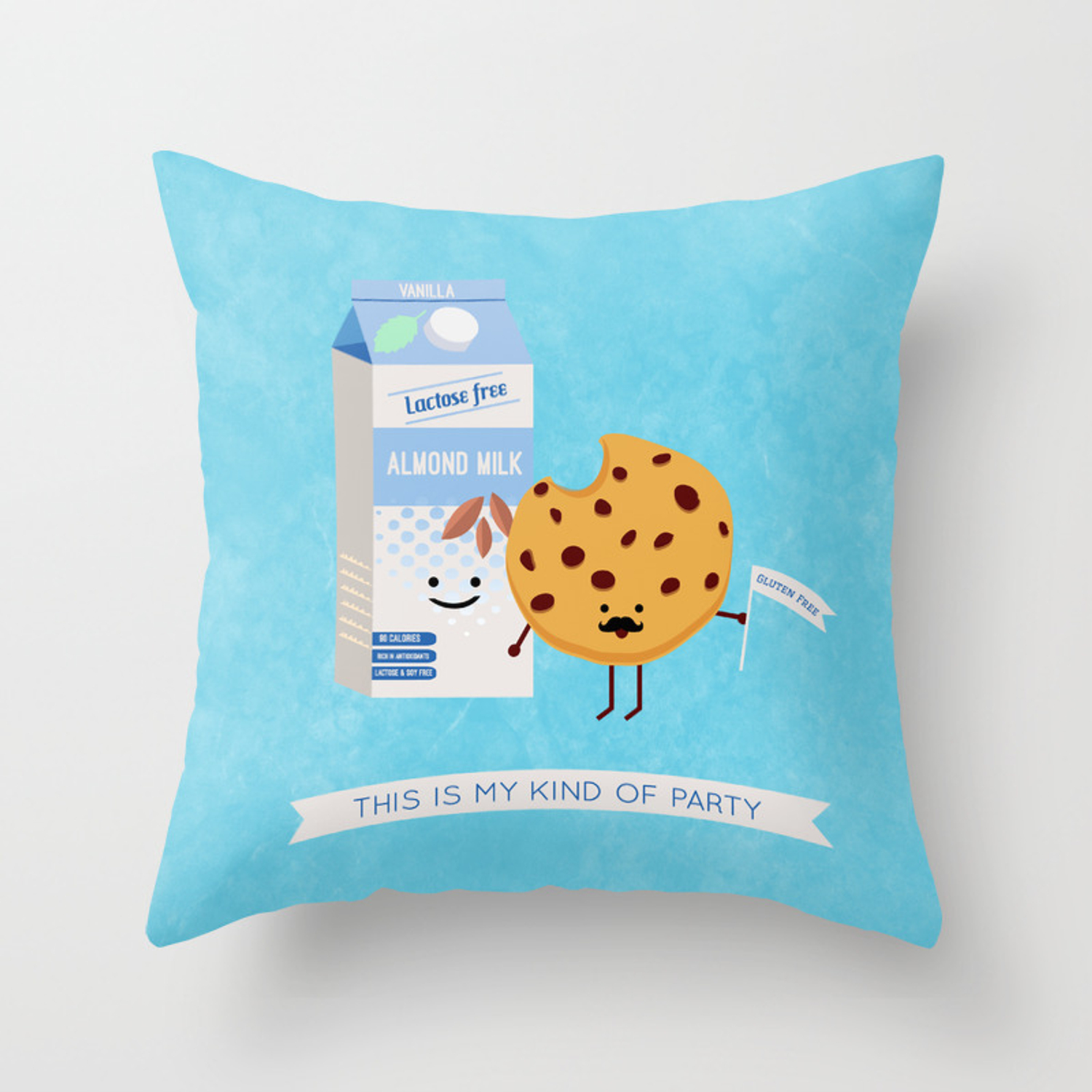 Milk And Cookie Throw Pillow By Amaedesigns Society6