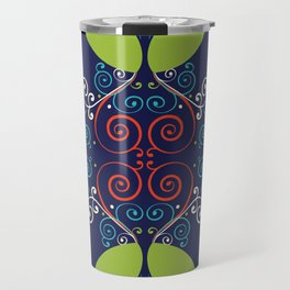 Peacock Nouveau Travel Mug