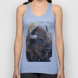 In The Presence Of Bison Unisex Tank Top
