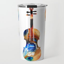 Violin Art By Sharon Cummings Travel Mug