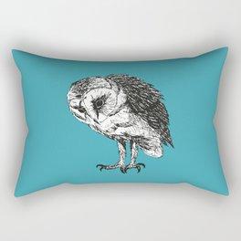 Barn owl pen drawing Rectangular Pillow
