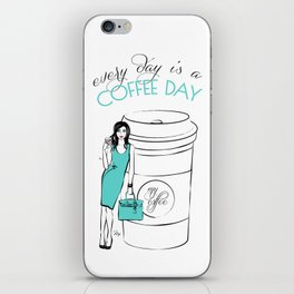 Coffee Quote  iPhone Skin