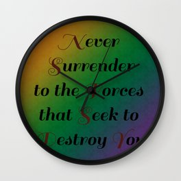 Never Surrender/Inspirations and Patterns 1 Wall Clock