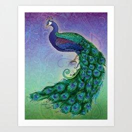 A Cocky Pea Art Print