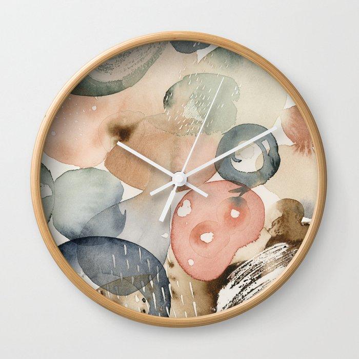 Colour Spills Wall Clock