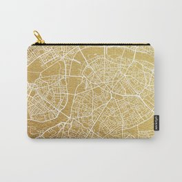 Gold London map Carry-All Pouch