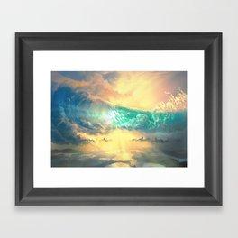 Sky Breaker Framed Art Print